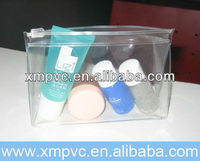 Clear Vinyl PVC Zipper Cosmetic Bag XYL-D-C463