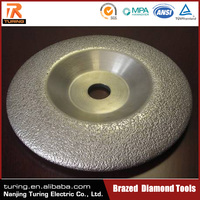 China Professional Brazed Diamond Tool Factory Supplied Centerless Grinding Wheel For Stone Granite Marble