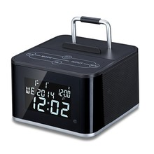 Remote controled Bluetooth Speaker with clock,FM radio,mobile phone dock,line in and USB charger