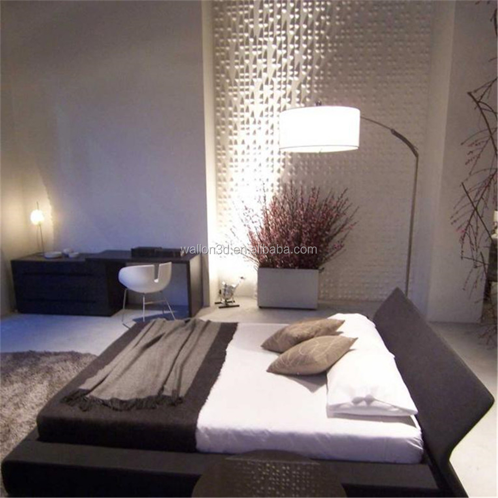 "Textured 3D Wall Treatments, White, 19.7"" x 19.7"" 12 Tiles, 32 Sq Ft"
