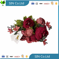 Sai ying Vintage Artificial Peony Silk Flowers Bouquet fake flower artificial flower