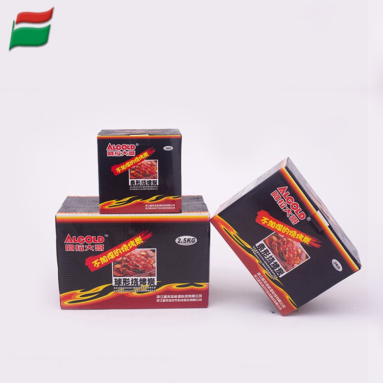 Factory selling price Boxed Spherical bbq charcoal briquette