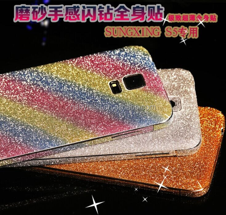 20 colors Bling Diamond Skin Sticker full screen protector for all samsung S3/S4/S5/S6
