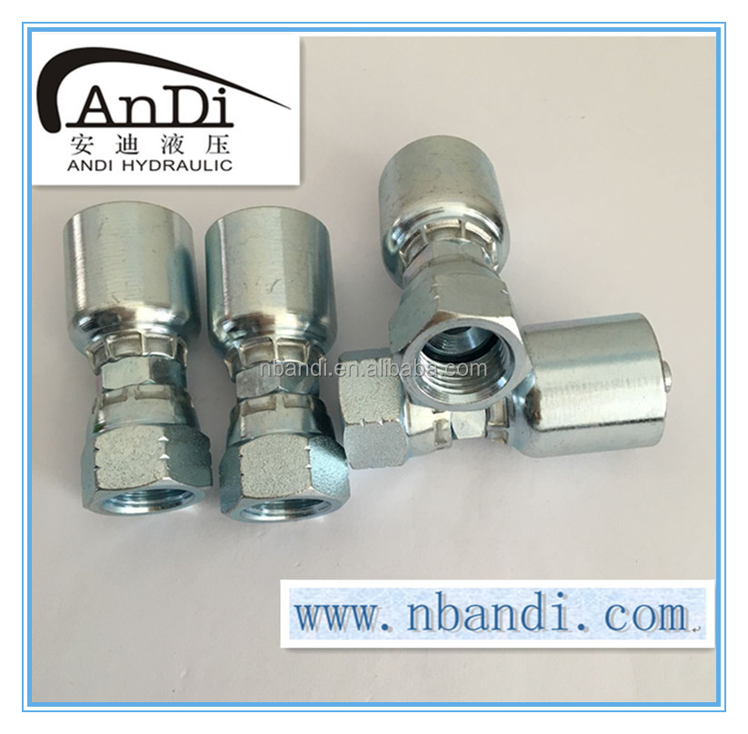 Ningbo China all size availiable JIC BSP NPT PARKER female double hexage hydraulic swage union fitting 26711D-04-04