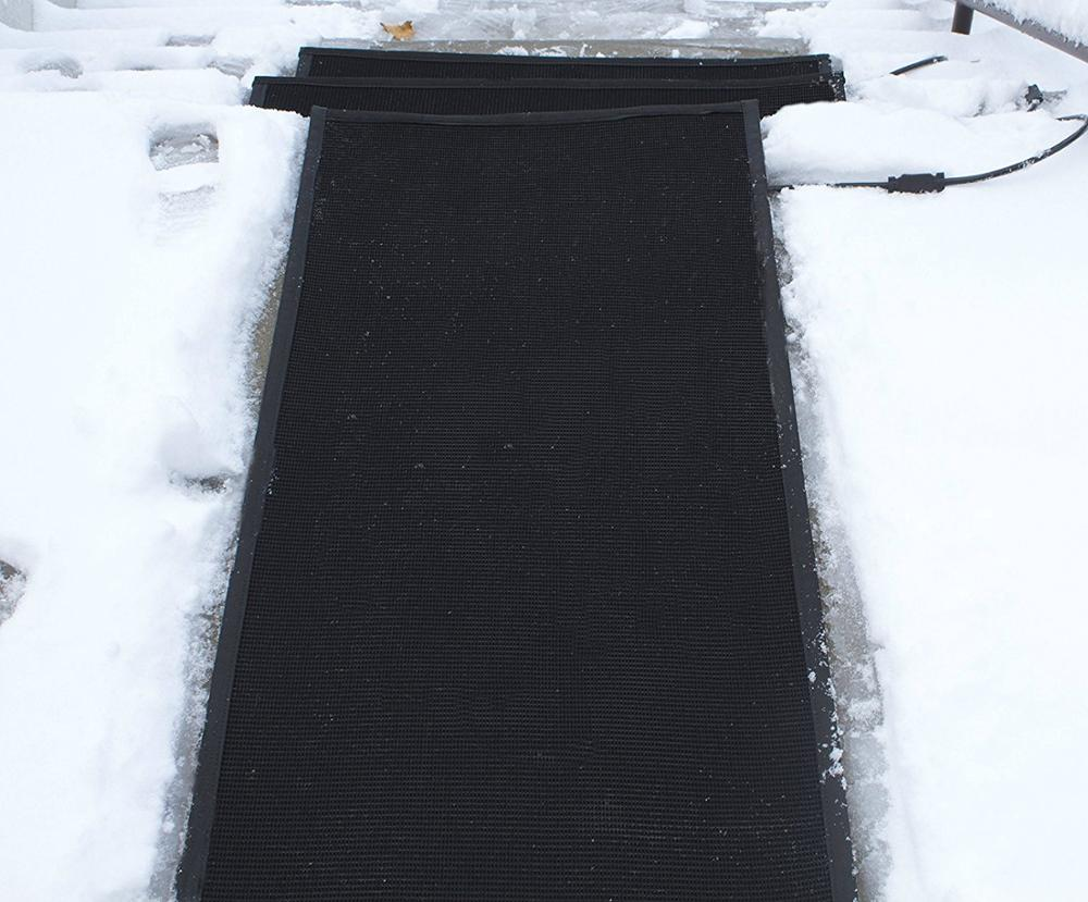 ice away heated snow melting mat heated driveway systems
