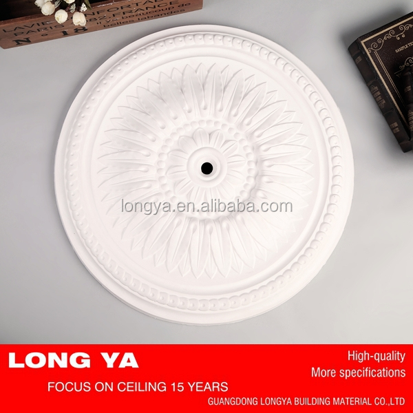 New decorative luxury designs gypsum ceiling medallion for lighting ceiling