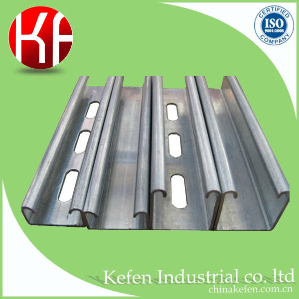 galvanized slotted u-shape steel channels