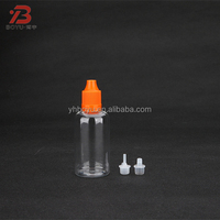 plastic food grade competitive price round squeeze honey unicorn bottle with screw cap and thin dropper