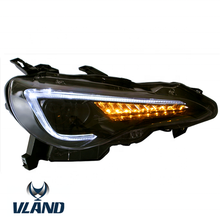 Vland manufacturer for car accessory 86 headlight for 2013-2018 for BRZ headlamp 2013-2018 LED head lamp with moving signal +DRL