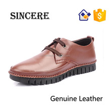 Full Grain Leather Comfortable Rubber Sole Guangzhou Port Shipping Leather Shoes