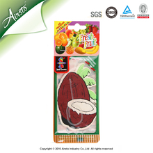 Coconut Flavour & Fragrance Air Fresheners Car Freshener Card