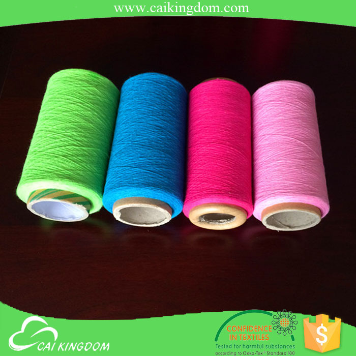 Leading manufacturer colored yarn open end yarn 100 cotton denim