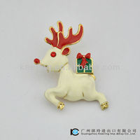 Fashion Jewelry enamel deer christmas brooches bouquet WBR-1170