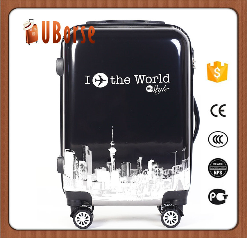 20 inch Carry-on lightweight luggage/abs+pc luggage