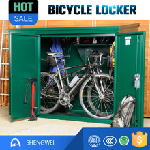 Public Furniture Steel Bicycle Locker Metal Bike Secure Parking Locker
