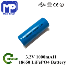 lithium iron /lifepo4 phosphate cell 18650 3.2v 1000mah,1500mah for energency lighting