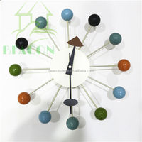Colorful Wood Ball Clock, Multi Color Ball Clock