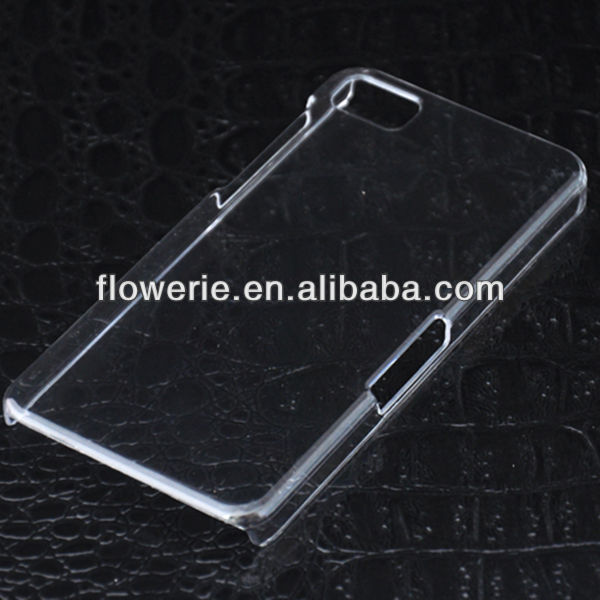 FL3087 2013 Guangzhou wholesale soft clear transparent hard pc case cover for blackberry z10
