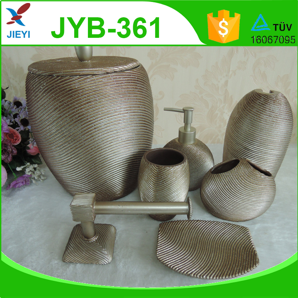 Factory price silver line Home Decor Bathroom Sets for promotion