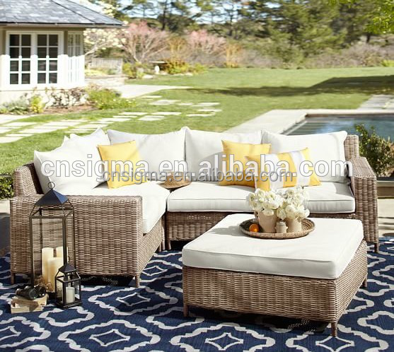 Sigma outdoor furniture new models couches set bamboo cane sofa
