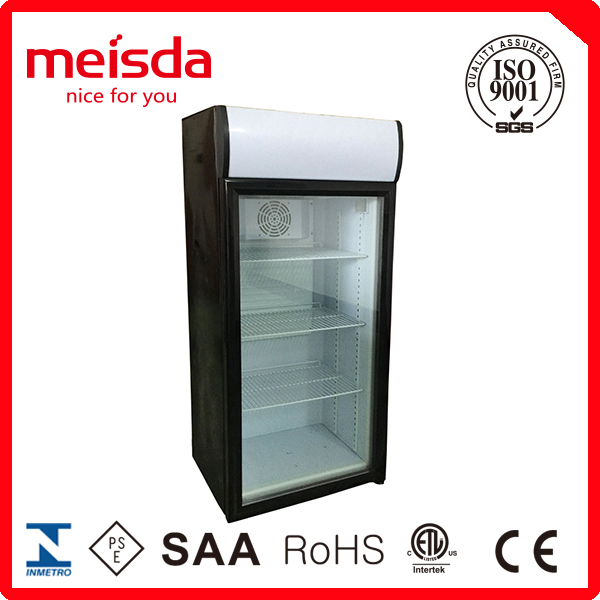 130L Glass Door Cheap Price Display Refrigerator coke Wholesale