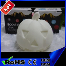 2015 halloween decoration plastic pumpkin flashing led light Halloween artificial white pumpkin