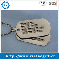 White gold dog tags engraved