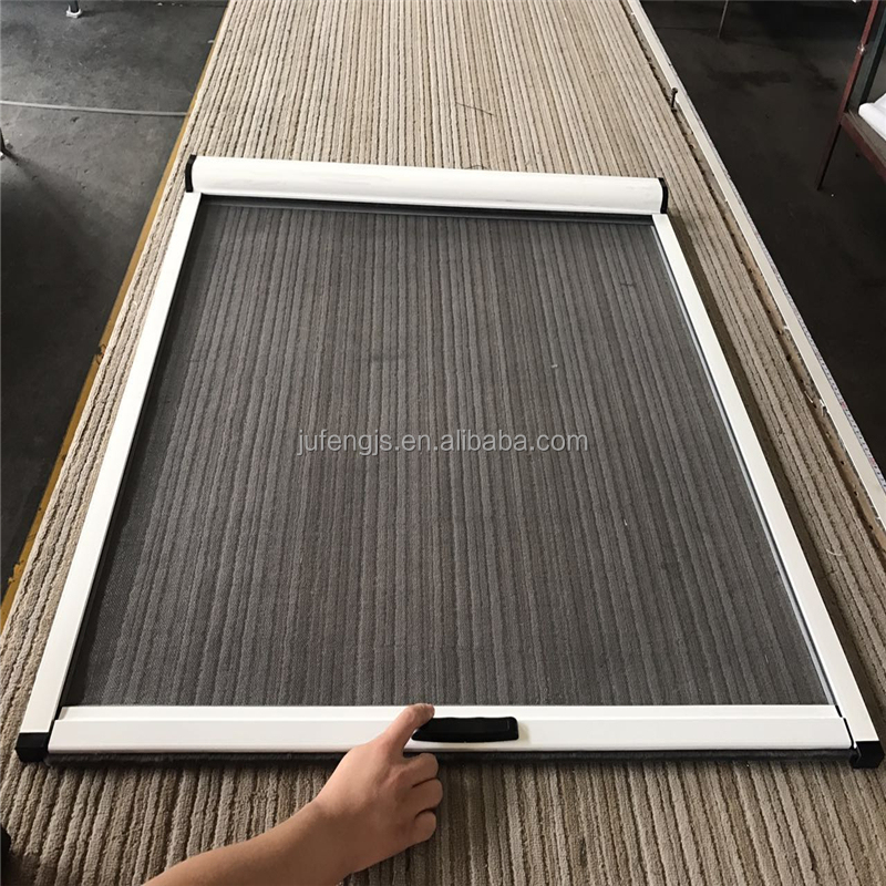 Aluminum up down screen window anti-theft fly/mosquito netting window