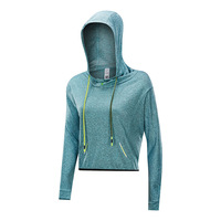 long sleeve outdoors mouth-muffle leisure loose fitness wholesale hoodie casual running for women outfit quick-drying yoga wear