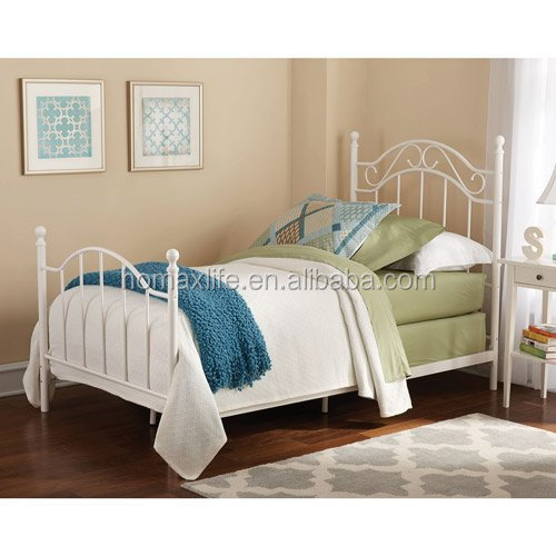 Latest metal bed designs single cot bed
