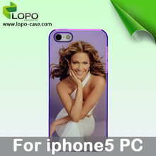Sublimation cell phone Cover Cases For iphone 5(plastic material)
