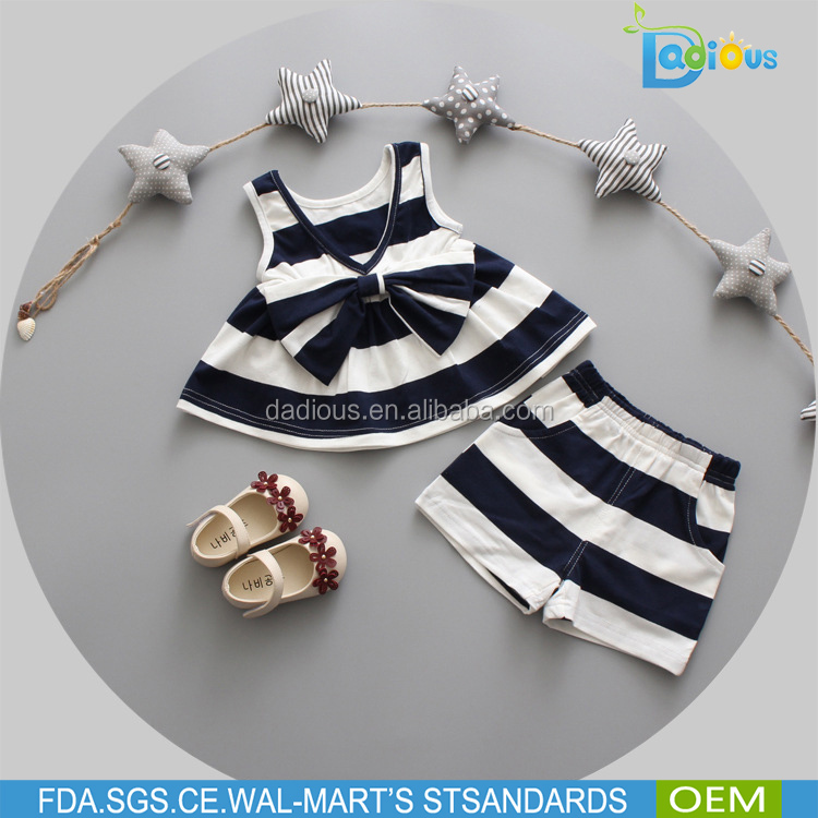 Newborn Toddler Clothes Baby Girls Dress+Pants white and black