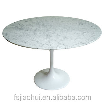 에로 사리넨 튤립 테이블 대리석 탑 라운드 식탁-테이블을 ...