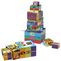 Custom Building Paper Blocks For Kids Toy