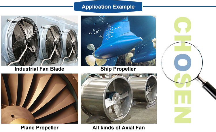 Industrial Axial Flow Fan Centrifugal Blade Fan Impeller