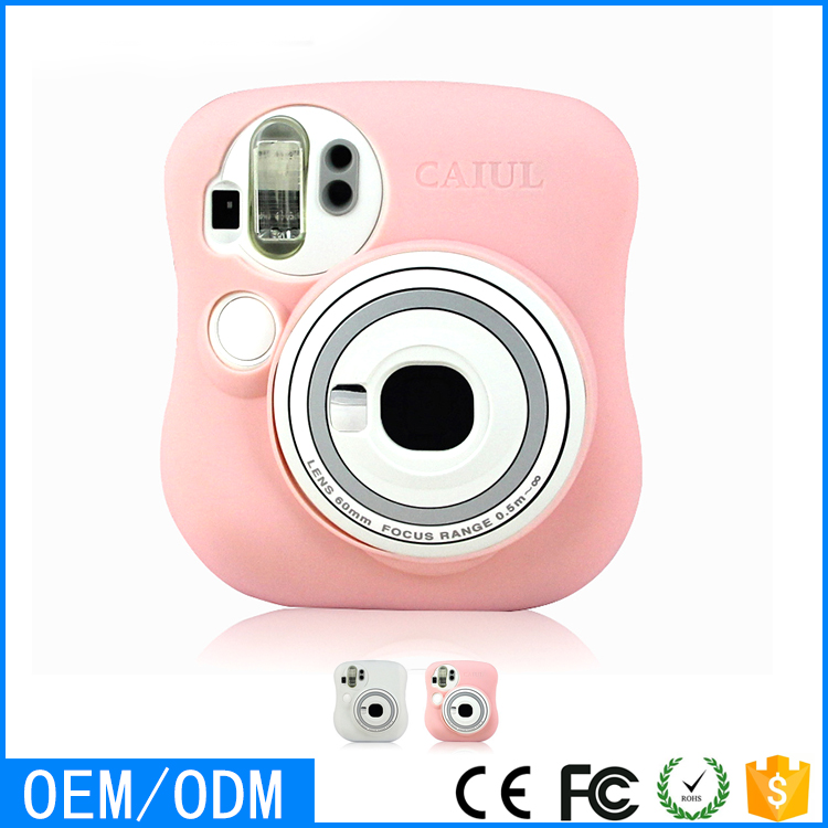 Fuji Fujifilm Instax Mini 25 Instant Camera Lovely Pink Silicone Case