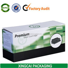 waxed corrugated premium toner cartridge packaging box