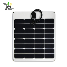 50w ETFE flexible solar panel black pv module for car RV ship