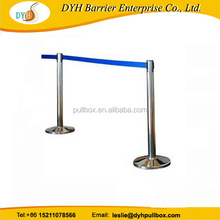 3m Gold retractable stanchion with velvet Ropes with sand or rope inside