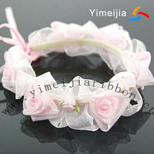 Beautiful gift bracelet organza ribbon rosettes