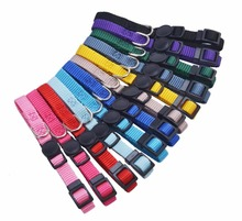Puppy ID Collar Adjustable Breakaway Whelping Litter Collars of Soft Plain Nylon Pet Dog Collar