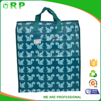 Turquoise squirrel pattern tile print durable pp woven bag buyer