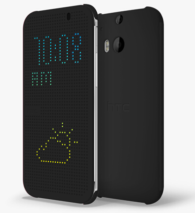 New arrival view dot Smart flip case cover for htc one m8,For htc one m8 Flip case