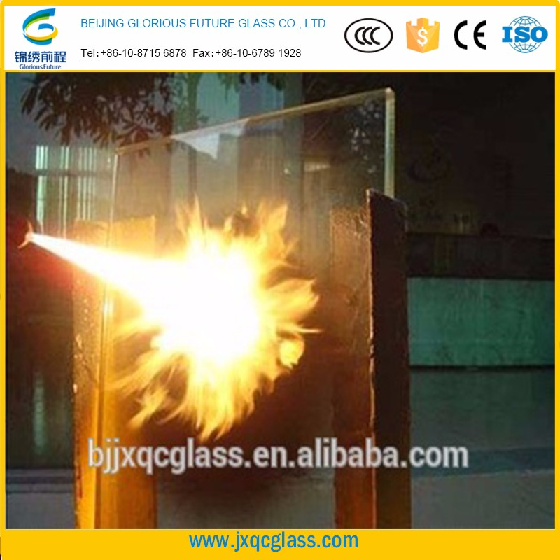 12 years experience high performance Chinese supplier 120 minutes fire rated glass for protective doors