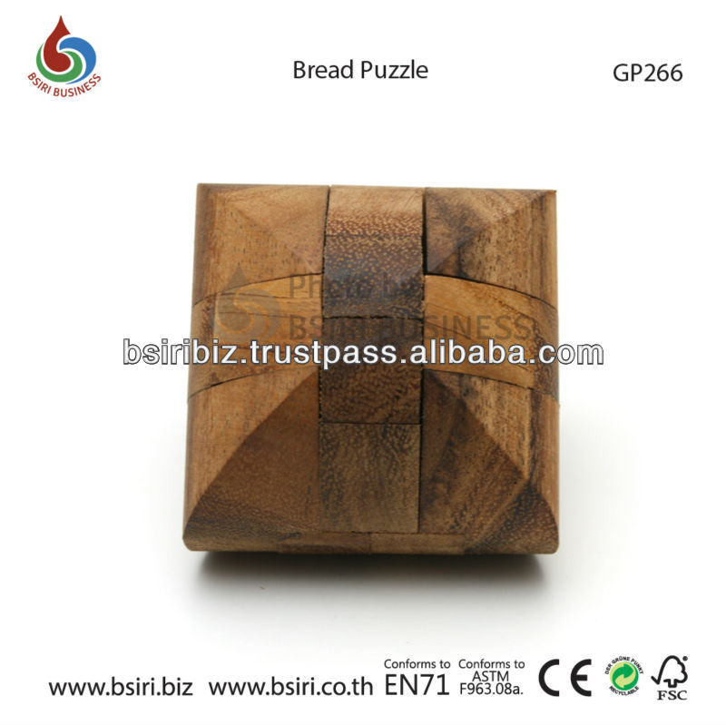 adult wooden puzzles Bread Puzzle