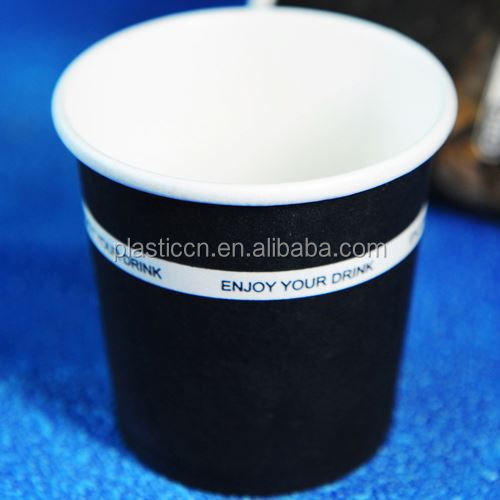 hot single wall coffee cups, portable real cup coffee, black and white stripe paper cups