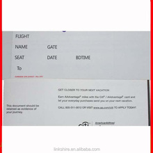 Linkshire thermal paper for boarding pass, airline boarding pass