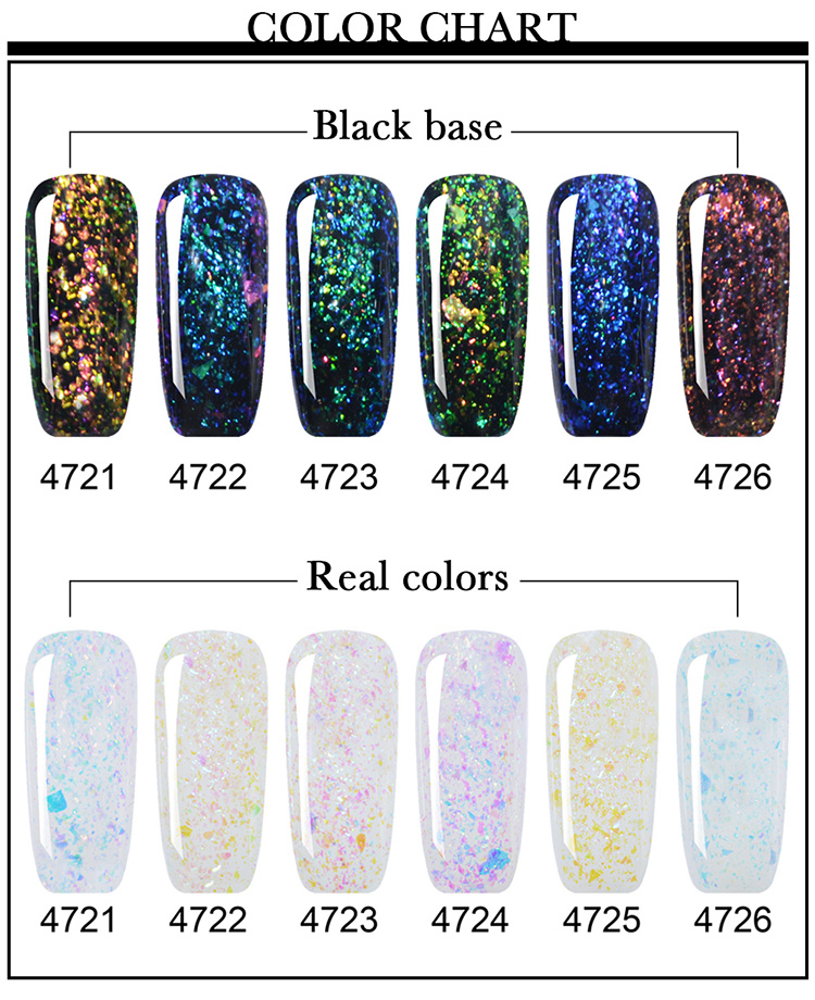 New Arrival Galaxy Shadow UV/LED Gel Nail Polish Semi Guangdong Wholesale Factory