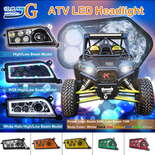 ATV Parts RGB Halo Ring UTV TURBO RZR 1000 ATV Headlight for Polaris