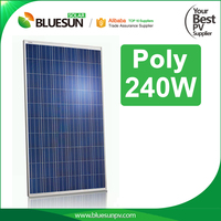 Bluesun brand 240 watt poly soalr panel 240w pv panel with low cost